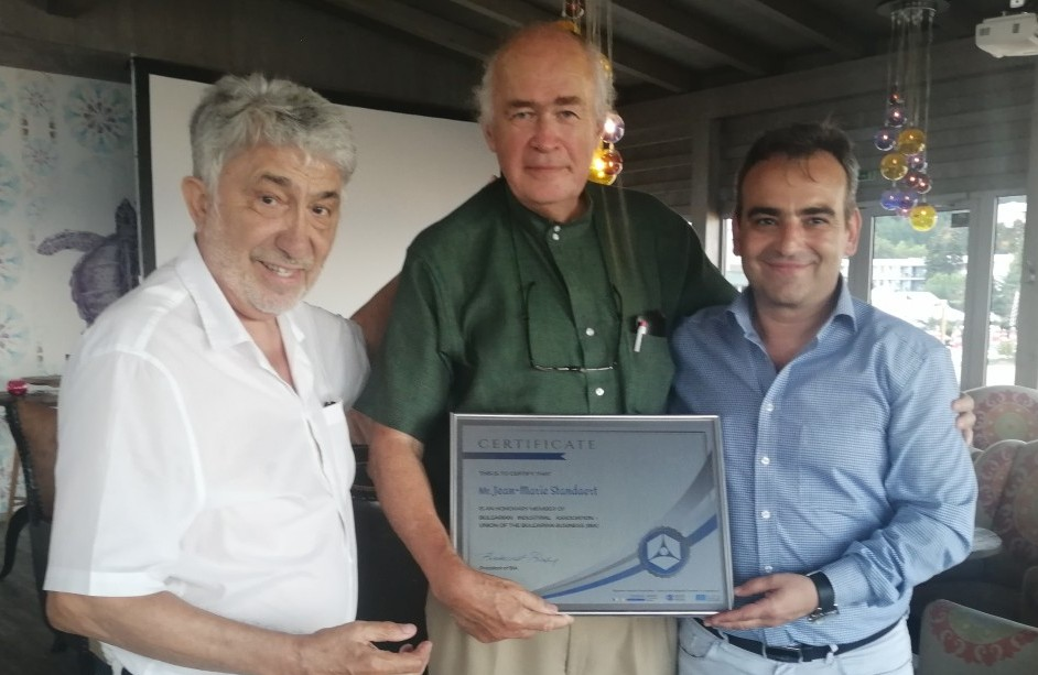 Jean-Marie Standard received an Honorary Membership Certificate of BIA