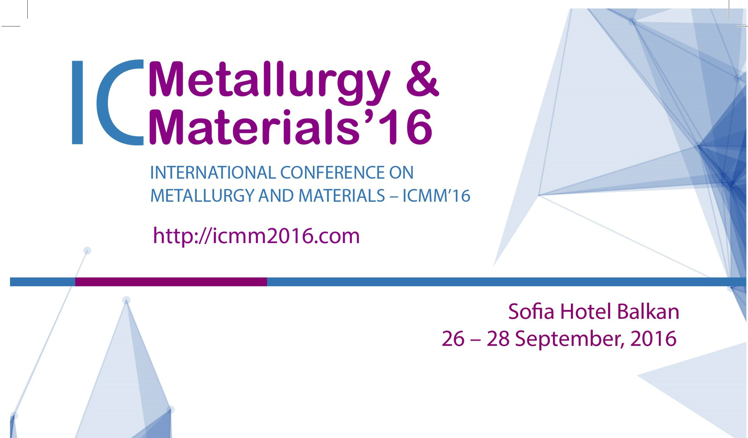 International Conference On Metallurgy And Materials – ICMM'16