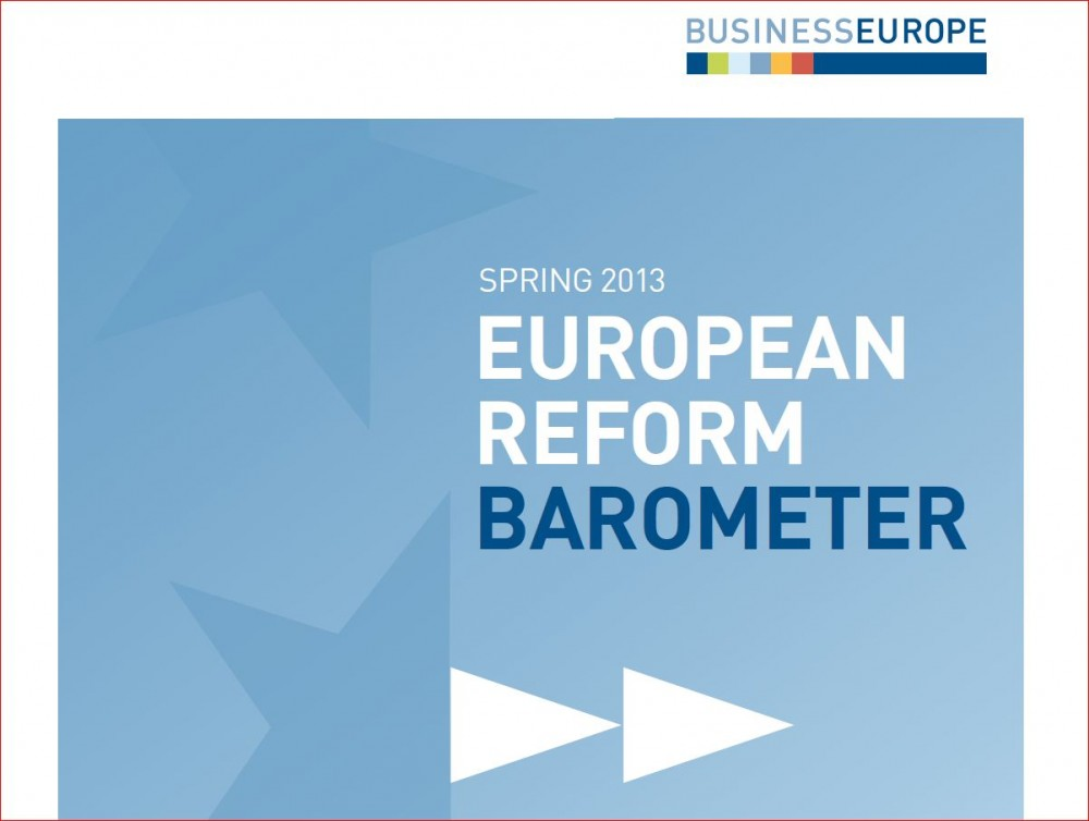 BUSINESSEUROPE message to the Spring European Council on 14-15 March 2013